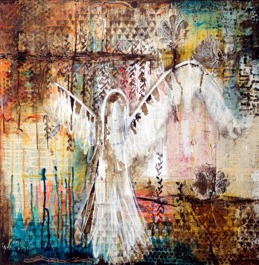 """Guardian Angel"" 60x60cm, 24""x24"", SOLD"
