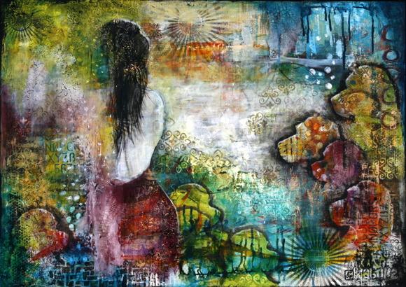 """""""Back to Eden"""", 140x100cm, SOLD"""