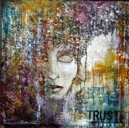 """""""Trust"""", 1m x 1m, 40""""x40"""", SOLD"""