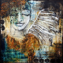 """Angel Quest"", 1m x 1m, 40""x40"" SOLD"