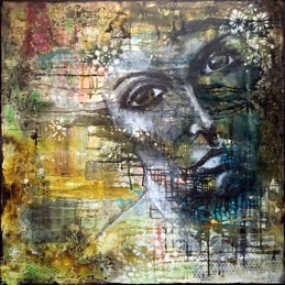 """I am who I am"", 75x75cm, SOLD"