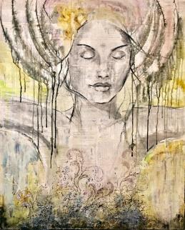 """Invite Stillness"", 100x80cm, SOLD"