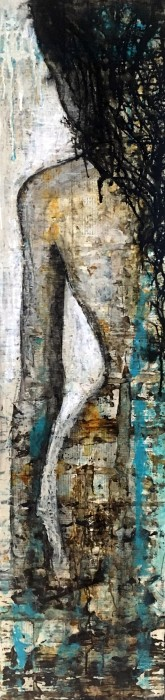 """""""Own your story"""", 30x120cm, SOLD"""