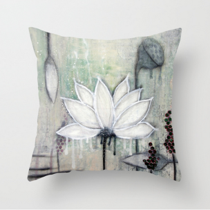 Throw pillow - Lotus III 45cmx45cm