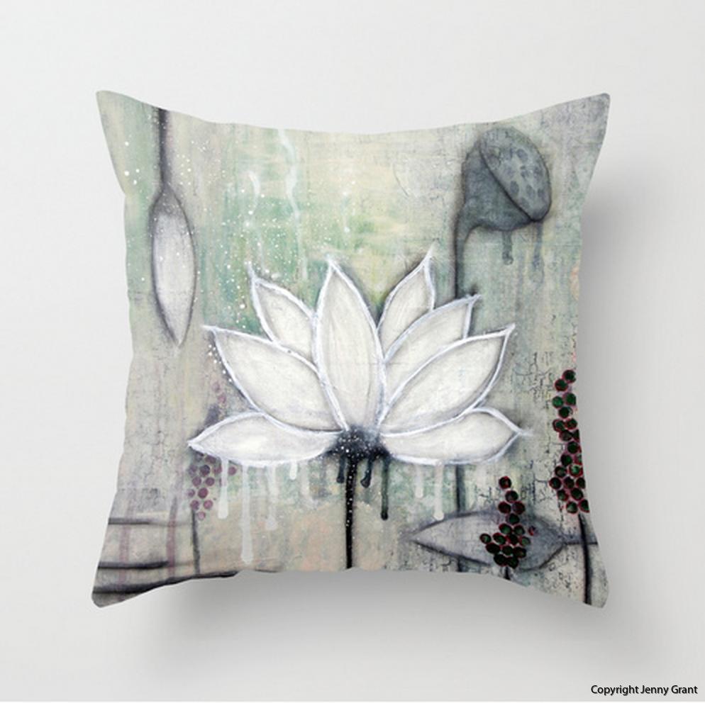 Throw Pillow Lotus III