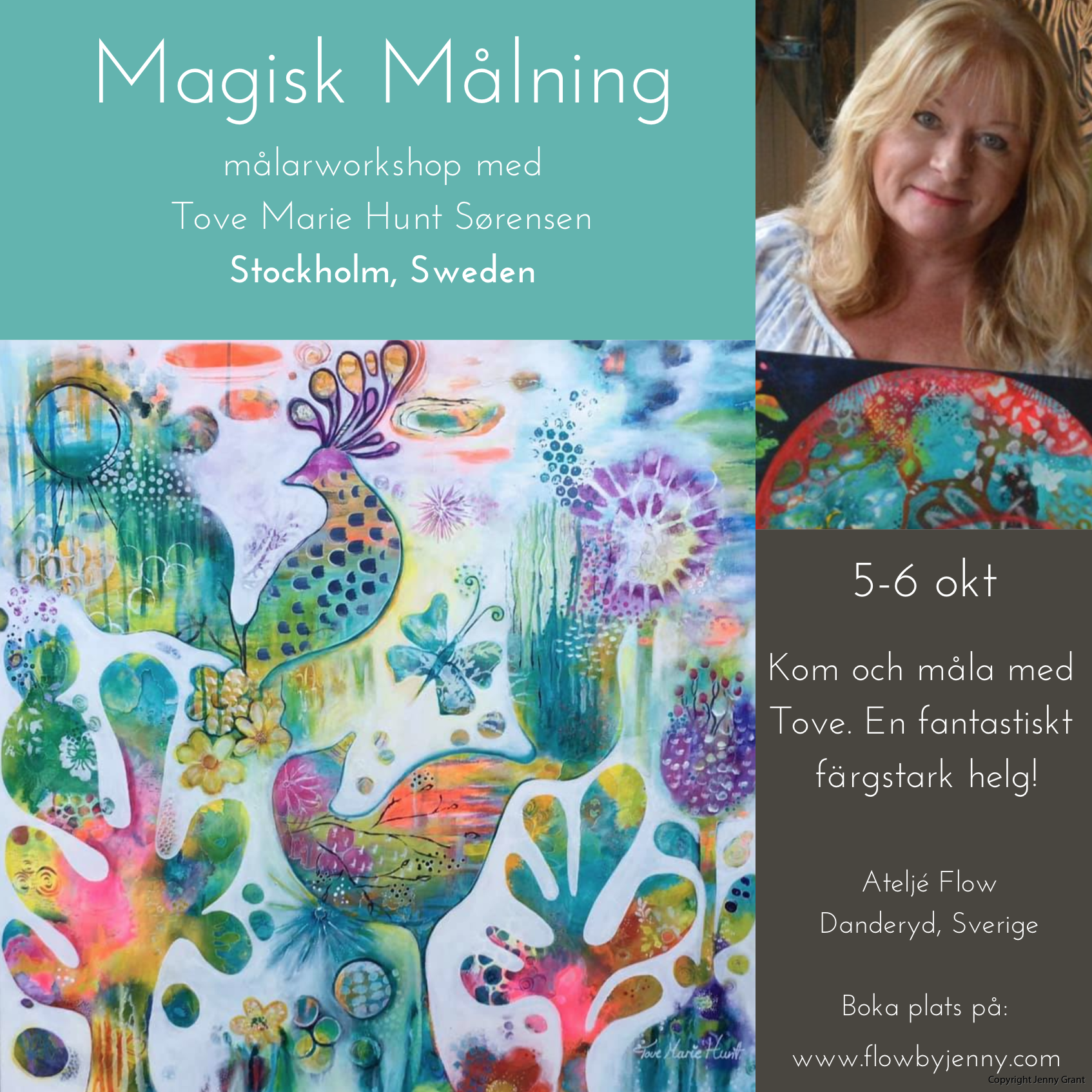 Magisk målning Tove Hunt Atelje Flow