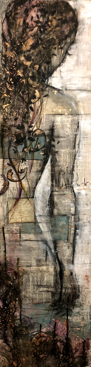 "My Body My Temple, 30x120cm, 12""x48"", SOLD"
