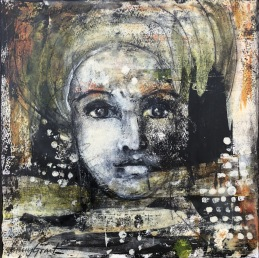 "Nuture Courage, 30x30cm, 12""x12"", SOLD"