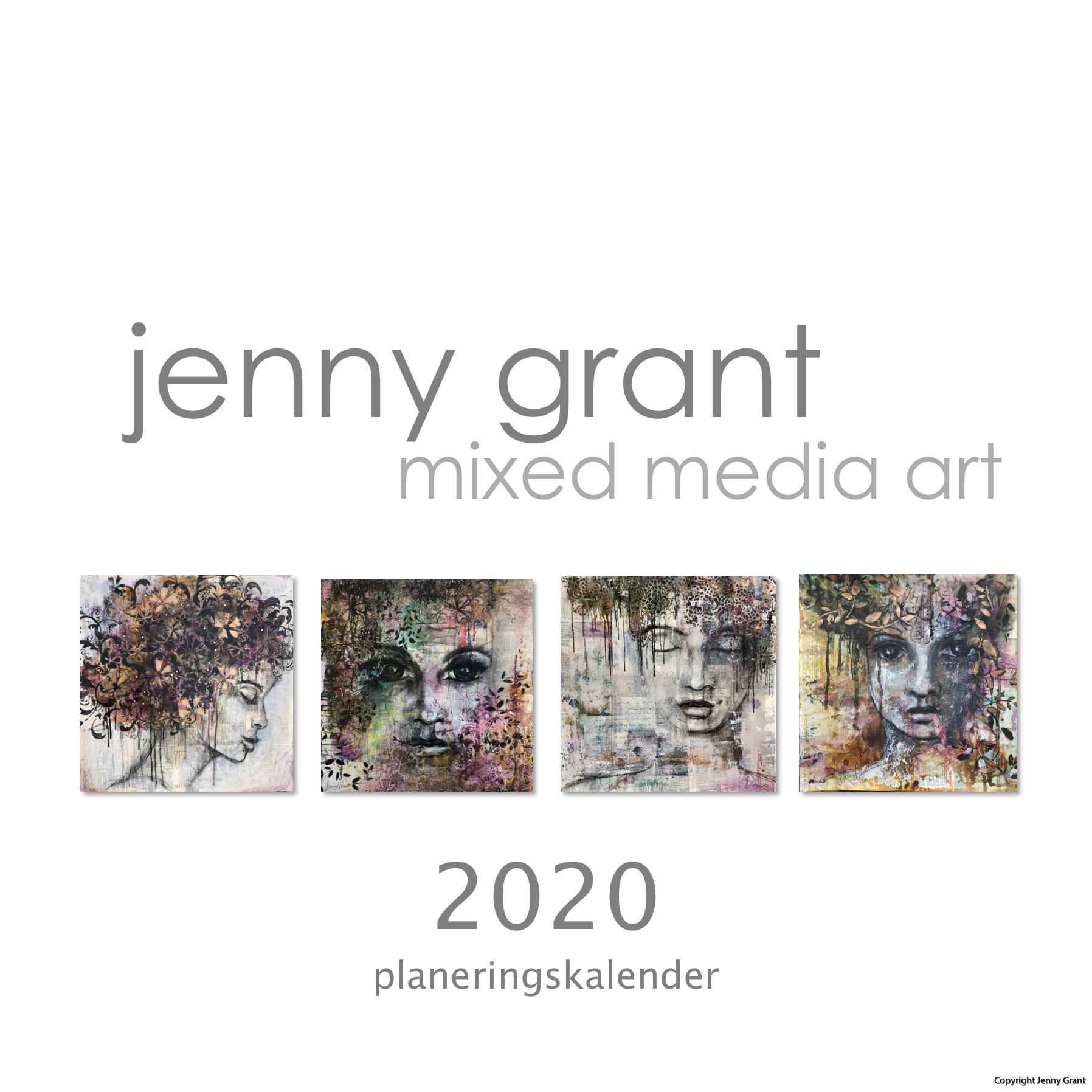 Flowbyjenny calendar 2020 front