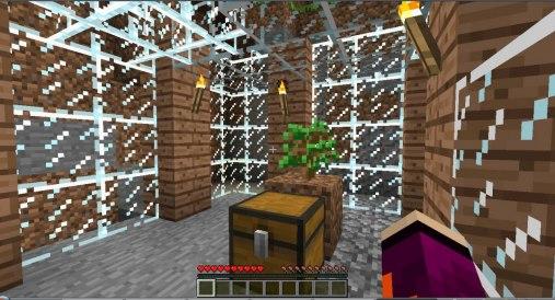 Emmas tempel till Frey i spelet Minecraft.