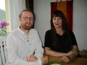 Henrik tillsammans med Professor Susan Jean Palmer