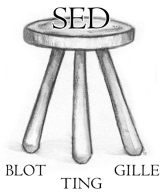 Sed: blot gille ting