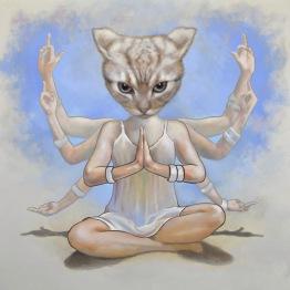 """Namaste"", Oil on canvas, 90x90cm"