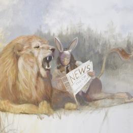 """""""Any News Honey?"""" Oil on canvas, 90x130 cm"""