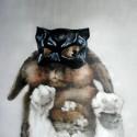 """Aka Termirabbinator!"" 94x105cm, Oil on canvas, SOLD"