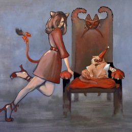 """Relax like a cat"", 95x100 cm, Oil on canvas"