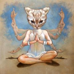 """Namaste"",90x90 cm, Oil on canvas"