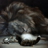 """""""So? I was Bored!"""", 80x100cm, Oil on canvas, SOLD"""