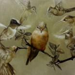 """Psst..listen guys"", 60x80 cm, Oil on canvas,SOLD"