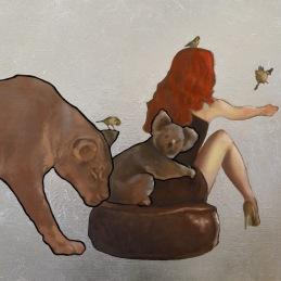 """""""Four Birds"""", 60x90 cm, oil on canvas"""