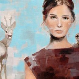 """""""Dear Honey Bunny"""", 30x49 cm, oil on canvas"""
