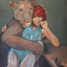 """""""Scared"""", oil on canvas, 85x100cm"""