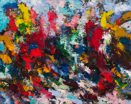 Ever Evolving, 2012, Oil on canvas, 122 x 152 cm (Sold)