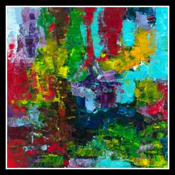 Impetus, 2010, oil on canvas, 76 x 76 cm