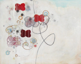 Exuberance, 2012, acrylic and mixed media on panel, 122 x 152.5 cm (Sold)