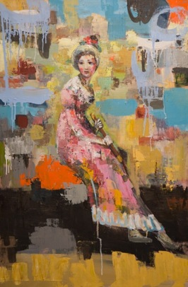 Lady in Fashion, 2013, oil on canvas, 91,5 x 61 cm