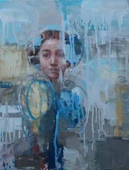 Asian Fairy, 2009, oil on canvas, 46 x 35,5 cm (Sold)