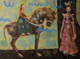Goddess' Lesson, 2013, oil on canvas, 91,5 x 122 cm
