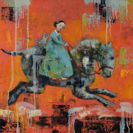 Happy Gallop, 2012, oil on canvas, 76 x 76 cm (Sold)