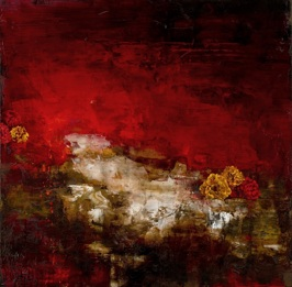 Unstable Vanitas in Red, 2013, oil on linen, 76x76 cm