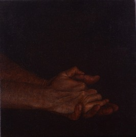 Les Mains Claires, 2014 oil on canvas, 30 x 30 cm