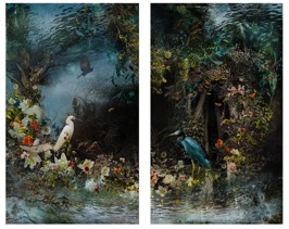 Reflection 2014, diptych, archival C-print photograph,153 x 91,5 cm