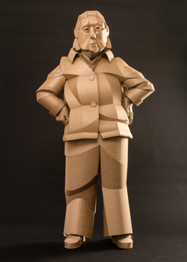 Shaoxing Woman Neighbor, life-sized, cardboard and glue, 2014