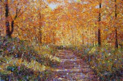 Autumn Path, 2006, acrylic on canvas, 122 x 183 cm (Sold)
