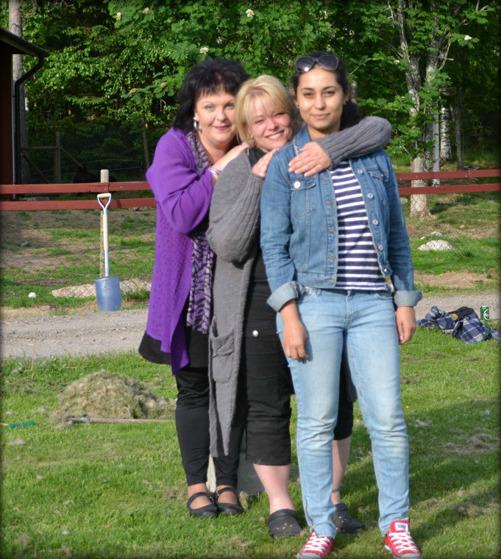 Sara, Anna-Lena och Elena