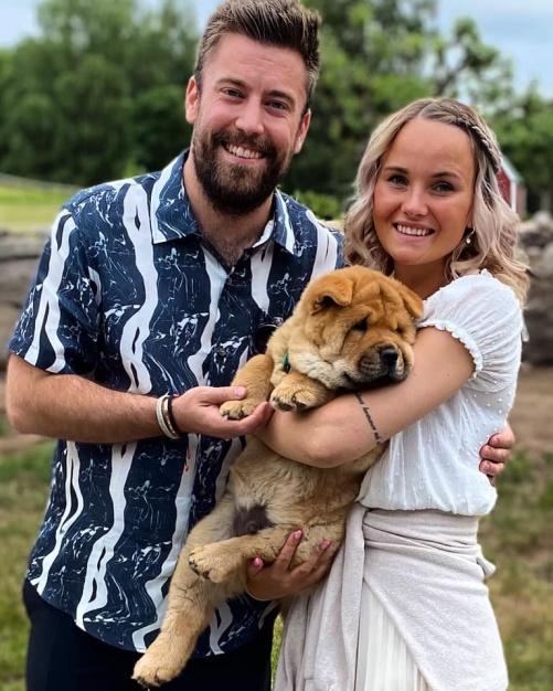 Fina lilla Åke med sin familj.