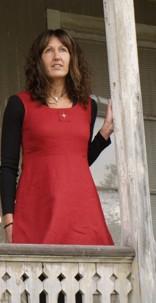 röd livklänning