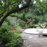 Trädgård i väster