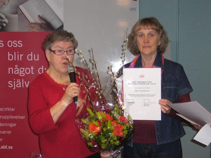 ABF:s kulturstipendium utdelades till Gillet på Piteå Havsbad i samband med årskongressen 2010