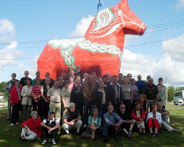 Denna enorma dalahäst finns i staden Mora
