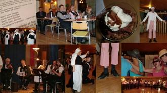 Collage från dansfesten i Bursiljum
