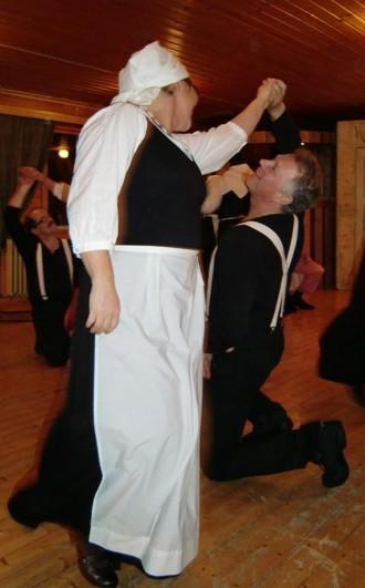 Danslaget bjöd på en fartfylld dansuppvisning