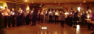 Den trevliga kvällen avslutades med en stämningsfull ljusdans... Från oss alla till er alla - ett STORT tack!