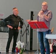För kvällens underhållning stod Staffan Lundström och Lars-Åke Aldrin. Proffsigt och underhållande!