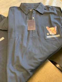 T-Shirt med hundtryck