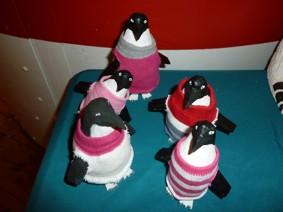 Pingvin med varm tröja